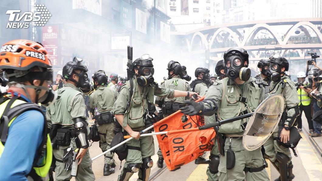 圖/中央社 國際批評港警過度武力 中國反嗆「顛倒黑白」