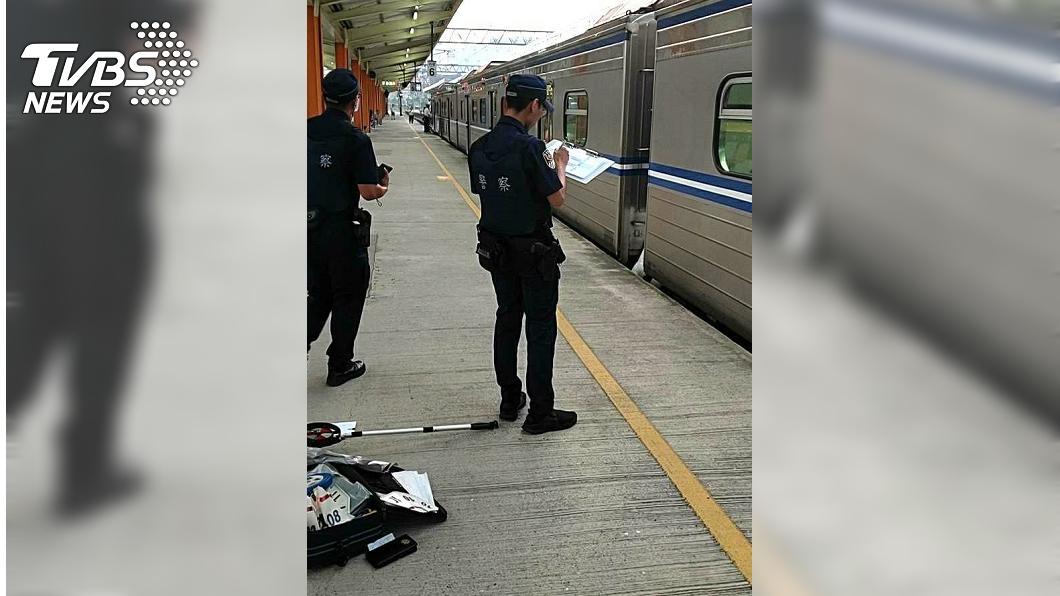 圖/TVBS 台鐵內壢站驚傳旅客落軌 男遭輾過當場死亡