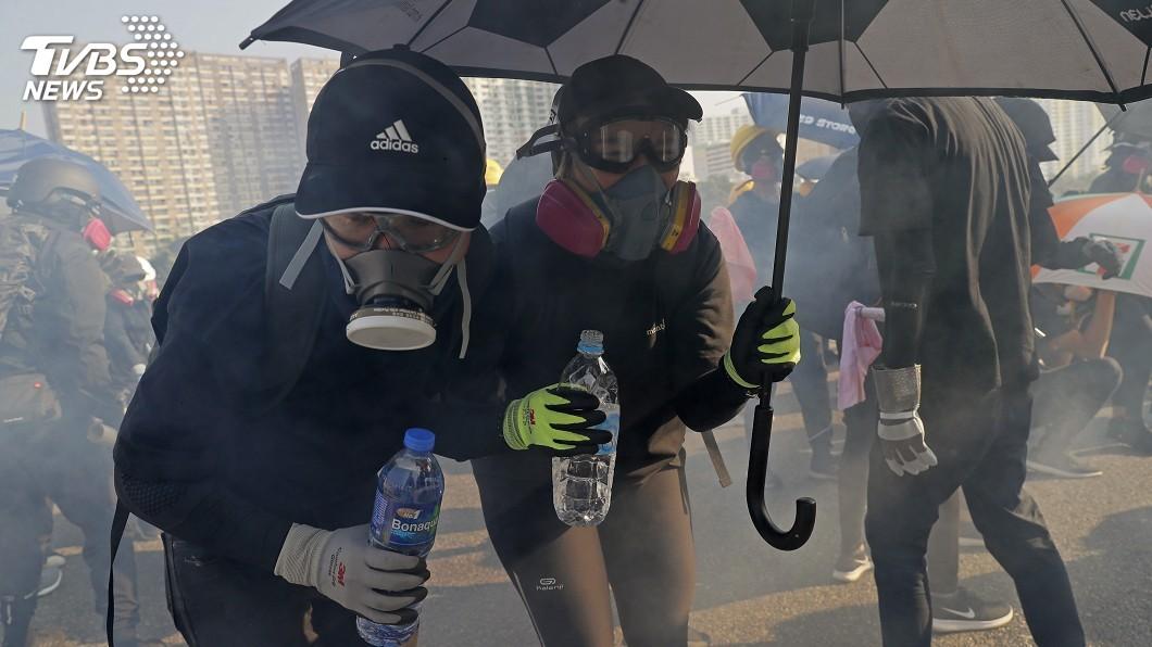 圖/達志影像美聯社 香港抗爭難平 外媒:港府將祭「禁蒙面法」