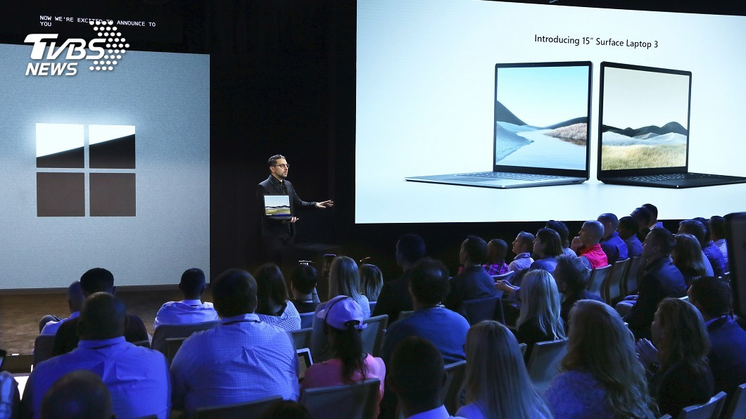 圖/達志影像美聯社 能360度開闔! 微軟推雙螢幕筆電、手機