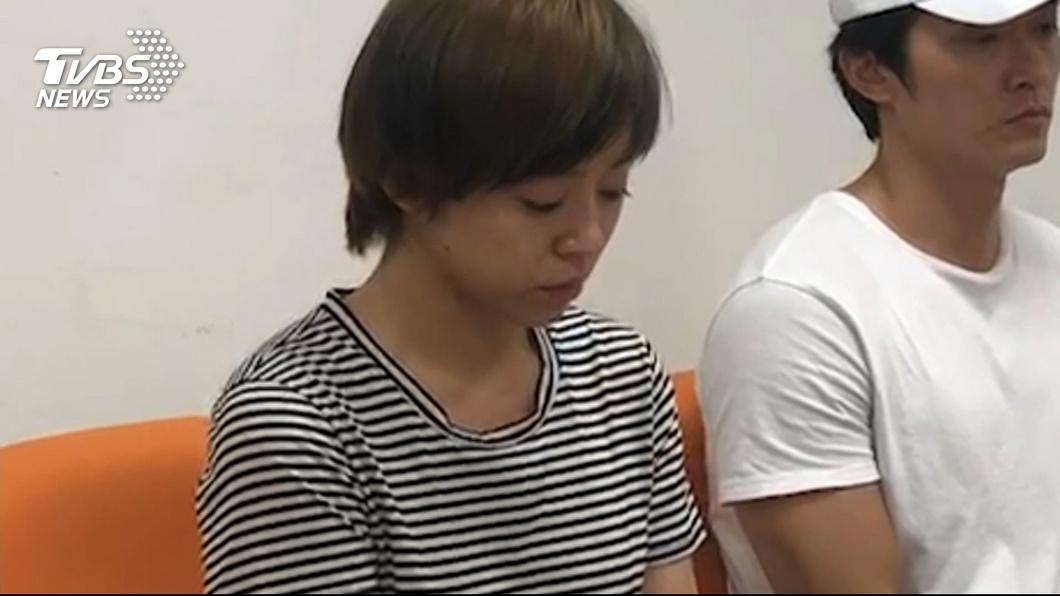 王瞳和馬俊麟因為不倫戀,3日召開記者會道歉。(圖/TVBS) 轟馬王合體成「最大敗筆」!馬妻被勸:拿錢放生腥夫
