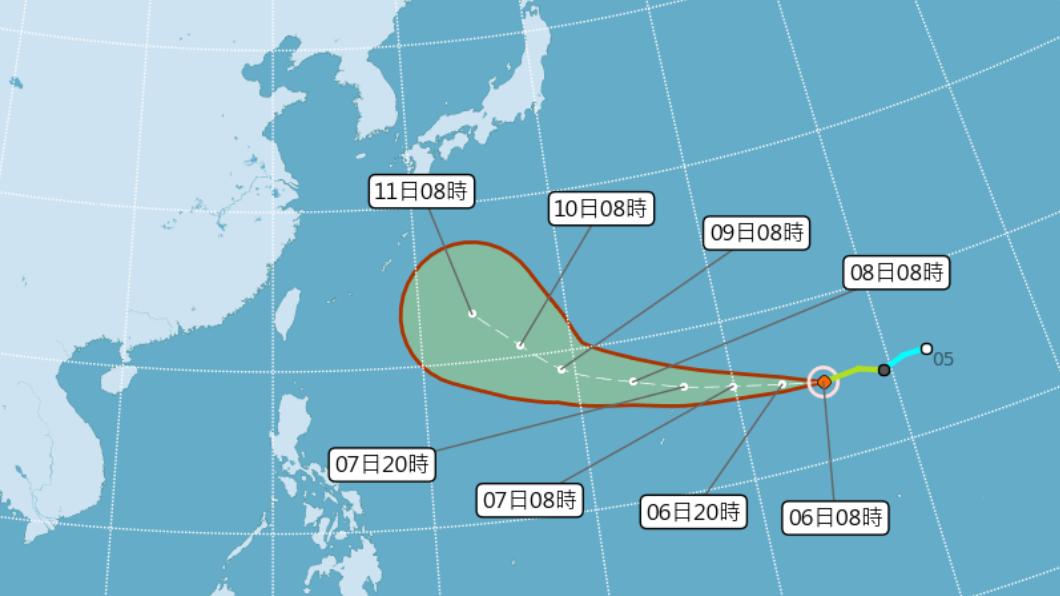 圖/中央氣象局 1條預測路徑對台影響大 專家:哈吉貝恐成超級颱風