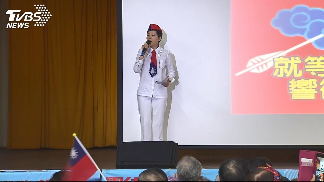 圖/TVBS 國慶升旗喊「韓總統加油」 高市府:違行政中立將罰