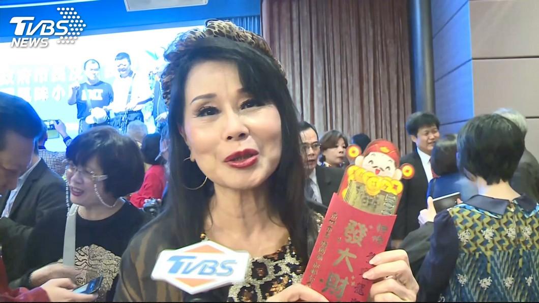 資深女星張琍敏力挺韓國瑜一向不遺餘力。(圖/TVBS) 批陳菊「蛇鼠一窩」 女星接傳票:這就是言論自由?