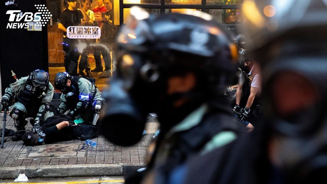 圖/達志影像路透社 香港抗爭地圖再上架 環時開嗆稱「暴徒幫手」