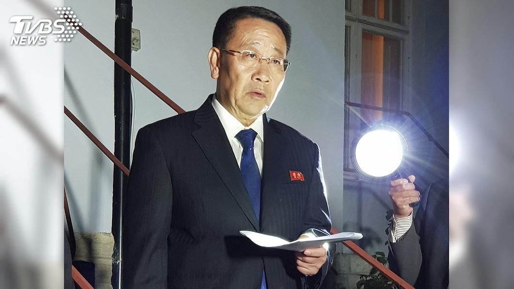 圖為北韓代表團首席代表金明吉。圖/達志影像美聯社 北韓:美態度未變 不可能兩週拿出談判方案