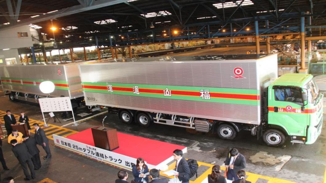 圖/翻攝自 福山通運株式会社官網 日本物流巨型聯結車上路「一車雙櫃」送更多