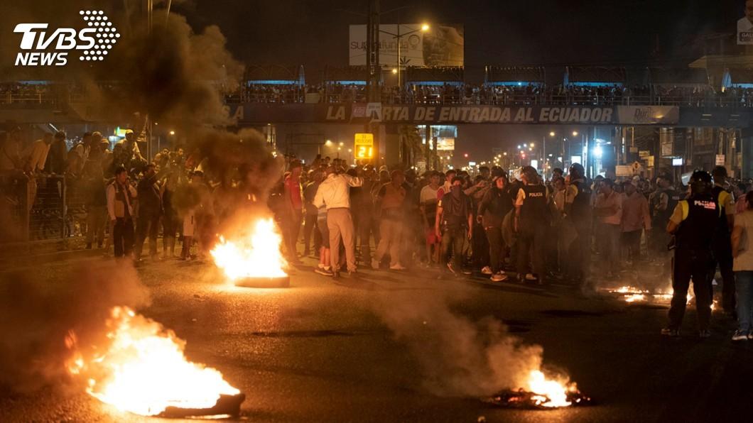 圖/達志影像路透社 厄瓜多再爆示威衝突 油田遭占產油量減12%