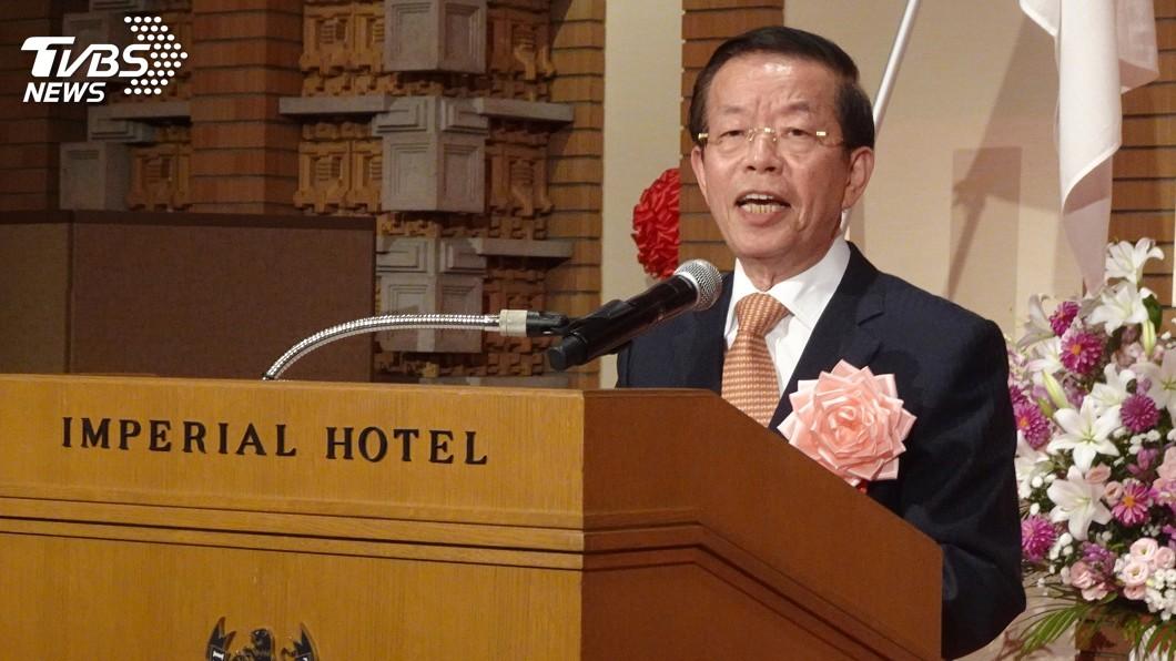 圖/中央社 日相安倍國慶賀電遭質疑 謝長廷:日方沒說是假的