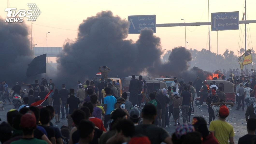 圖/達志影像路透社 伊拉克示威釀暴力衝突 美國務院譴責籲克制