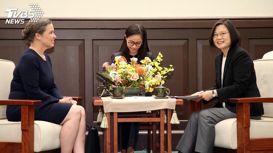 圖/中央社 兩國理念相近 蔡總統:願全力與美國加強合作