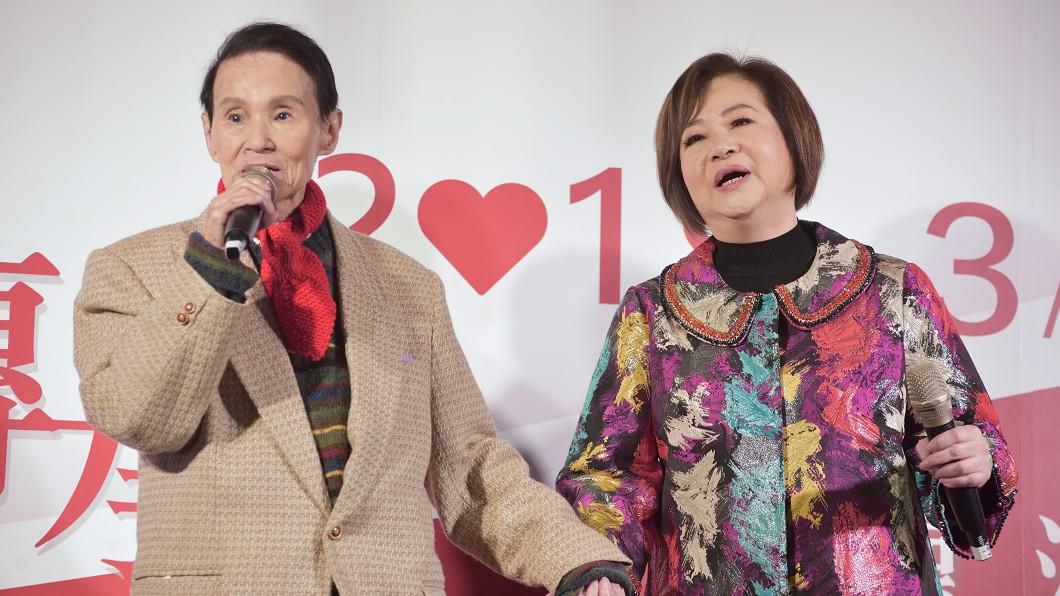 寶島歌王文夏、妻子文香,7月時參加台灣優質生命協會「愛傳承關懷演唱會」。圖/台灣優質生命協會提供