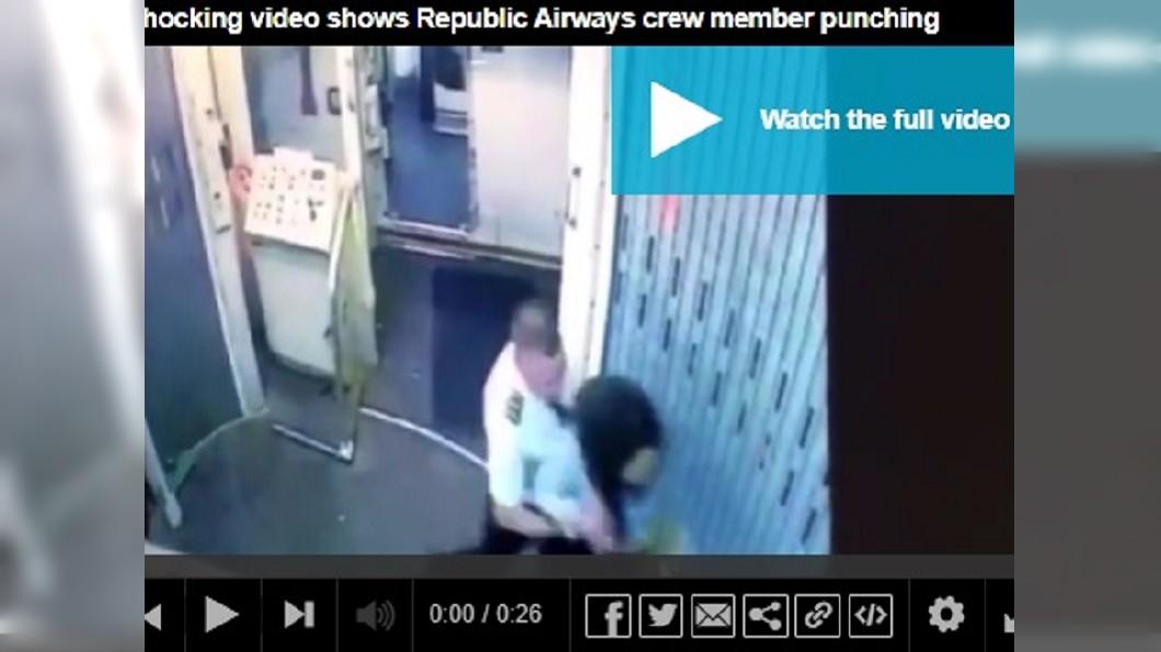 最近一家國外航空公司的男機師與女空服員在機上互毆影片曝光。圖/翻攝自dailymail網站