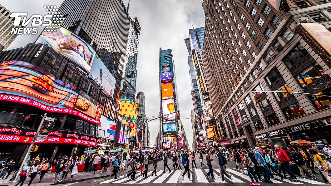 紐約時報廣場。示意圖/TVBS 台灣美食美景 雙十節登上紐約時報廣場螢幕