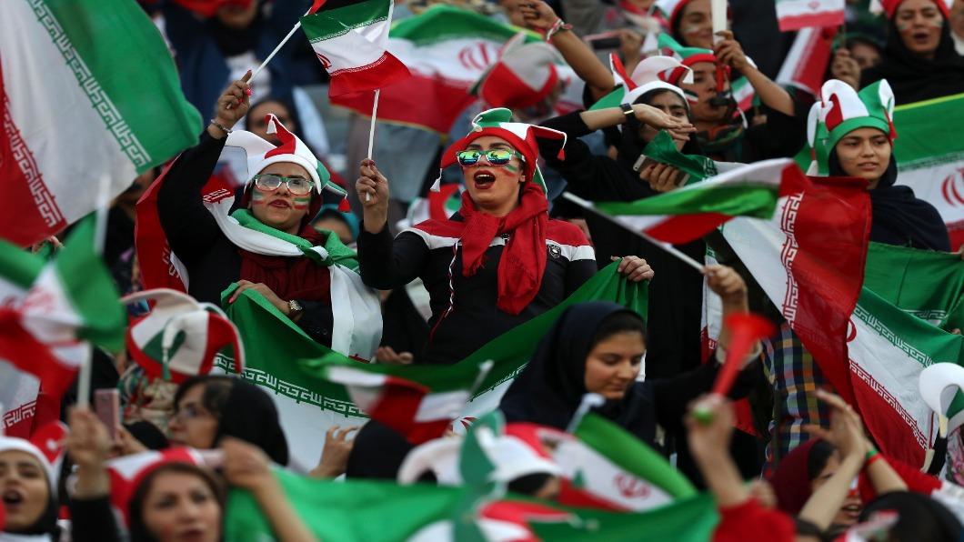 圖/達志影像美聯社 40年來首次! 伊朗女性獲准入場看足球賽
