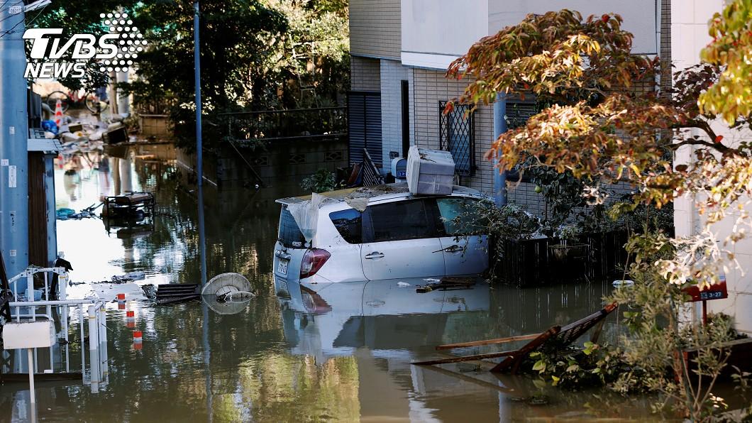 哈吉貝侵襲日本釀成災情。圖/達志影像路透社