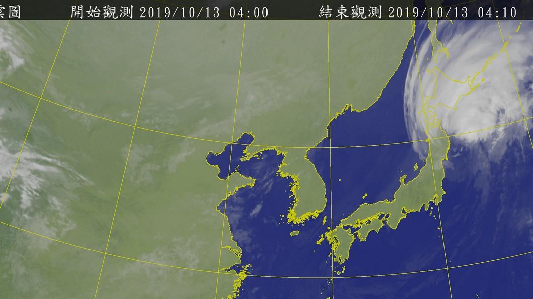 哈吉貝侵襲日本。圖/中央氣象局