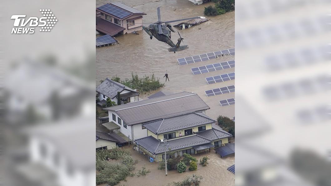 圖/達志影像美聯社 「哈吉貝」登陸 日本關東平原氾濫釀10死