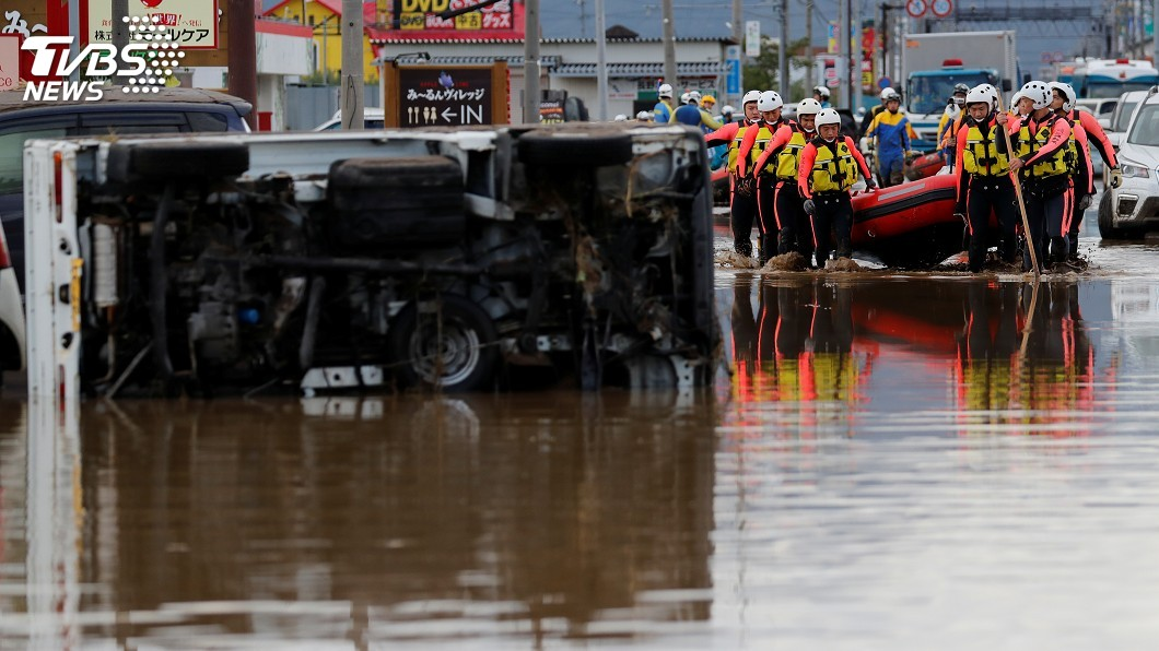 圖/達志影像路透社 颱風哈吉貝襲日至少31死 氣象廳再發豪雨特報