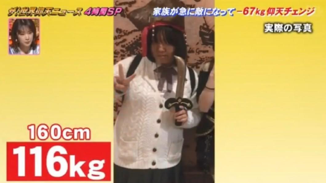 綾香體重一路飆升到116公斤。圖/翻攝自網路