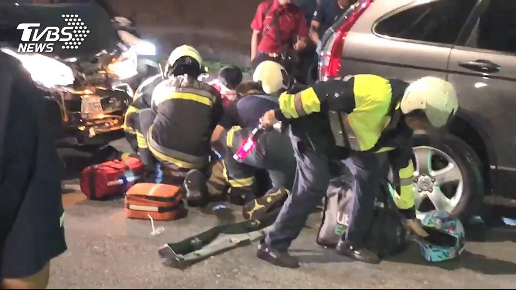 圖/TVBS資料畫面 北市外送員車禍13天30起 警方將邀業者座談