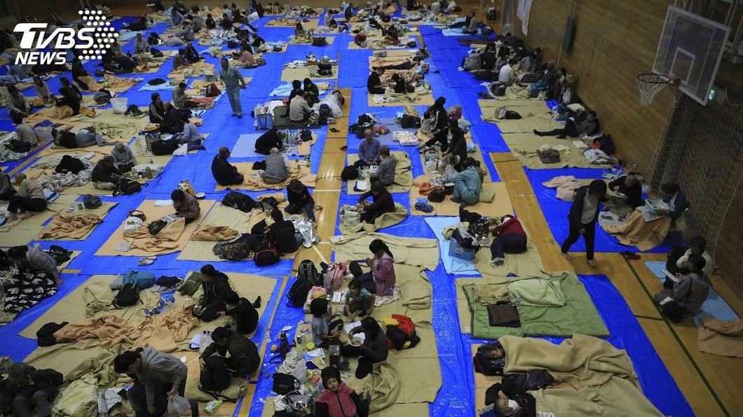 圖/達志影像美聯社 颱風哈吉貝肆虐 東京1避難所拒街友惹議