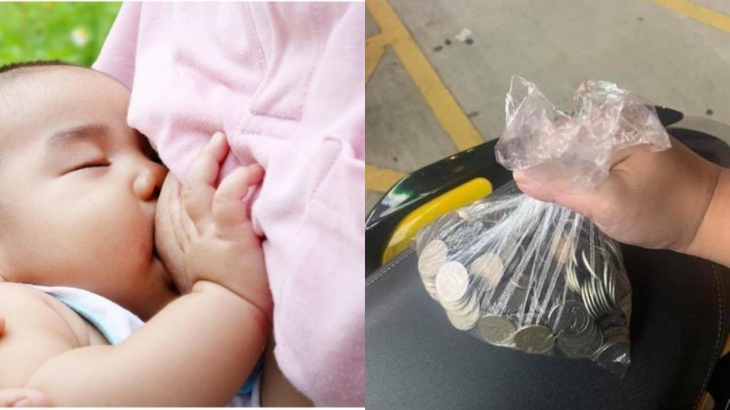 左圖/TVBS示意圖。右圖/翻攝自爆怨公社 少女抱哭嬰借1百 他霸氣掏3千5…暖心後續曝