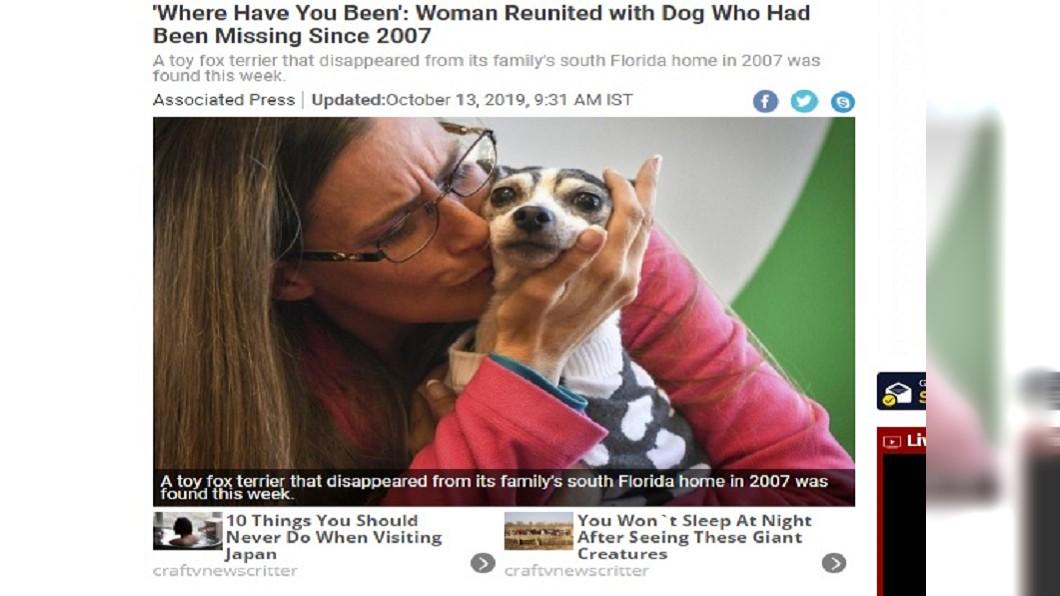 圖/翻攝自News 18 為了與你相遇 飼主與愛犬失散12年1600公里外團圓