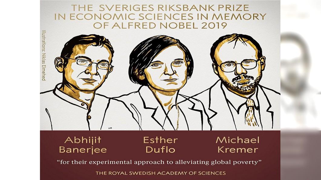 圖/翻攝自The Nobel Prize推特 諾貝爾經濟學獎揭曉 美法3學者獲殊榮
