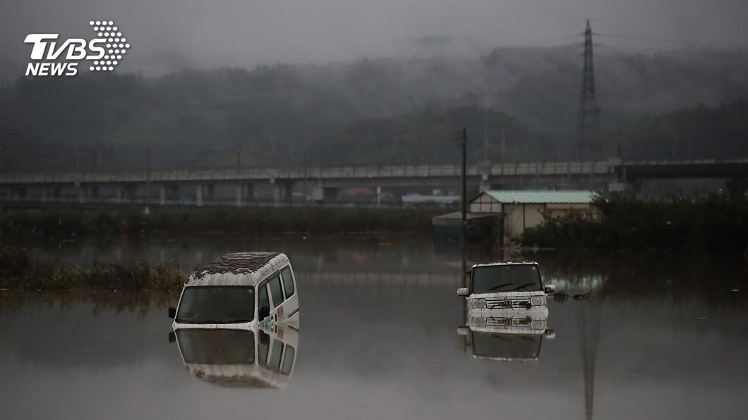 圖/達志影像美聯社 豪雨加河道縮減 千曲川水淹590個臺北小巨蛋
