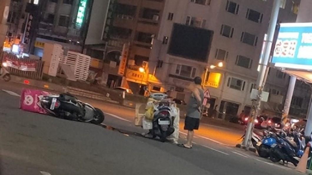 圖/翻攝自 斗六人文社交圈 FB 快訊/Foodpanda外送又車禍10/14單日3起