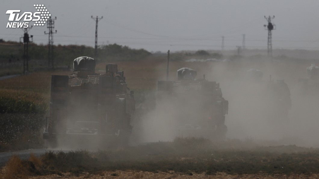 圖/達志影像美聯社 支援庫德族抗土耳其 敘利亞政府軍開入曼比季
