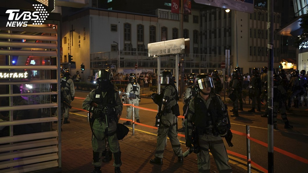 圖/達志影像美聯社 香港反送中餘波 法院禁市民干擾警察宿舍