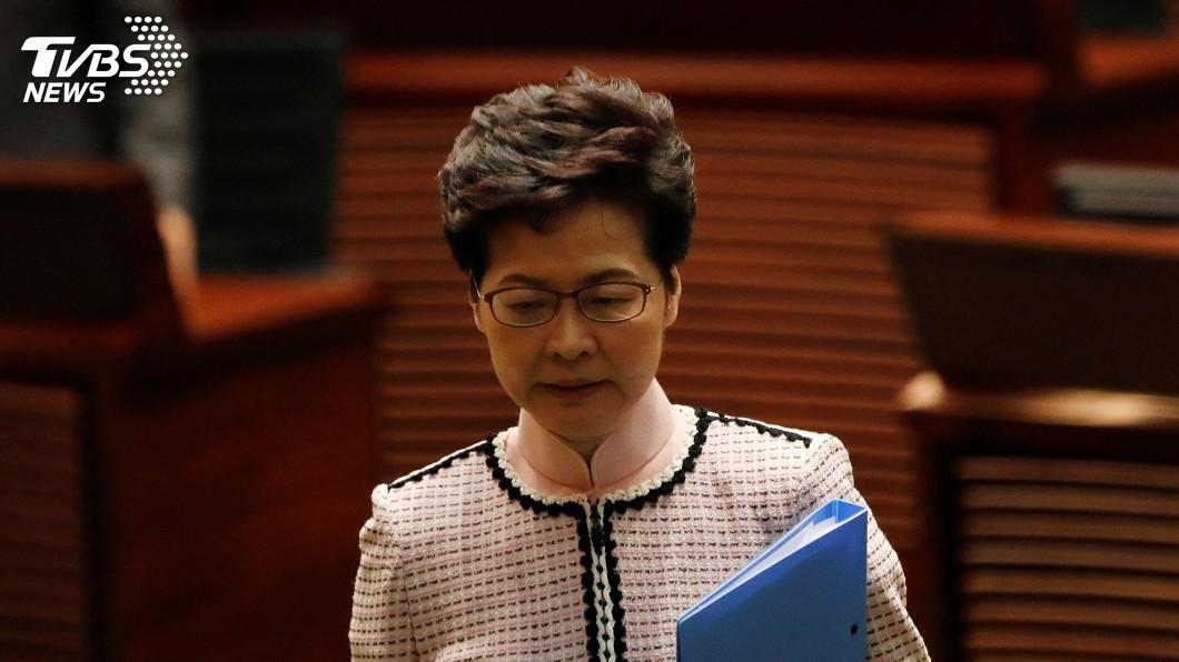 圖/達志影像路透社 泛民抗議聲中 港特首施政報告改以影像直播