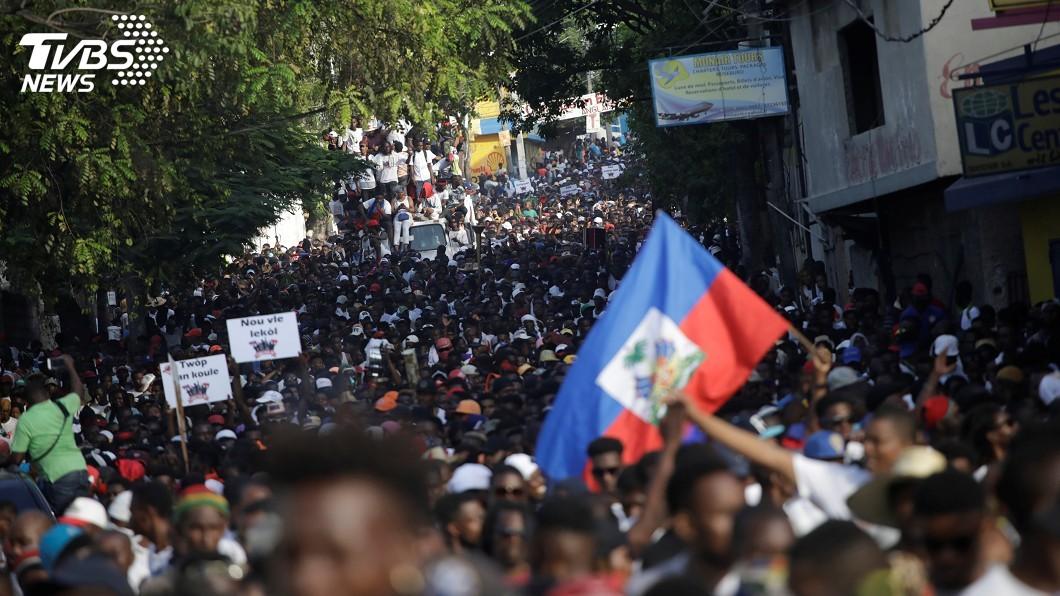 圖/達志影像路透社 海地總統承諾打貪 示威者不買帳再度上街抗議