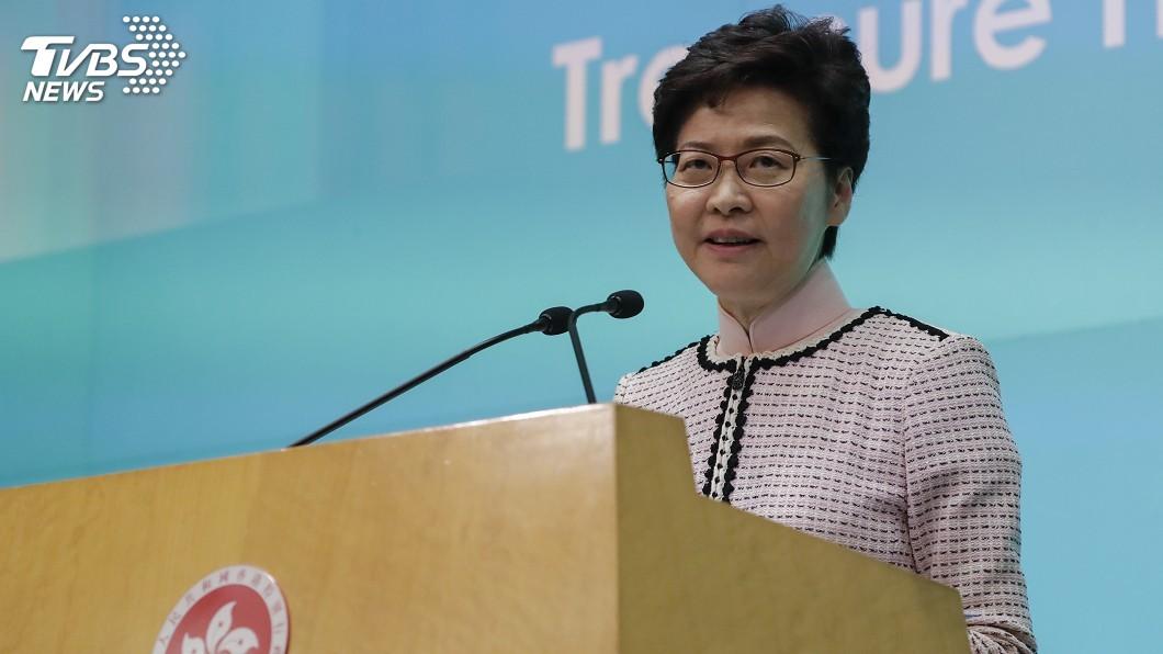 圖/達志影像美聯社 反送中風暴未散 香港特首林鄭期盼看到彩虹