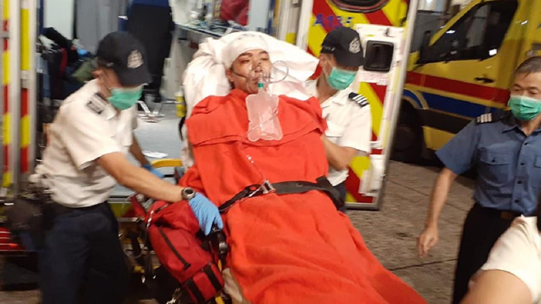 圖/翻攝自立場新聞 香港民陣召集人岑子杰再度遇襲 受傷送醫