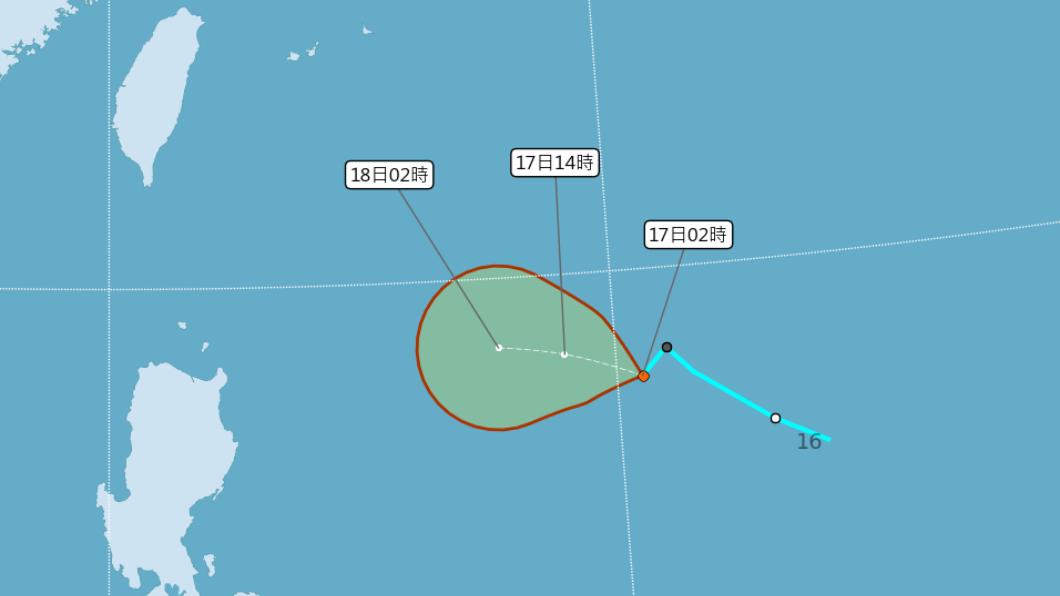 圖/中央氣象局 颱風「浣熊」恐會生成? 專家:影響週末雨勢關鍵