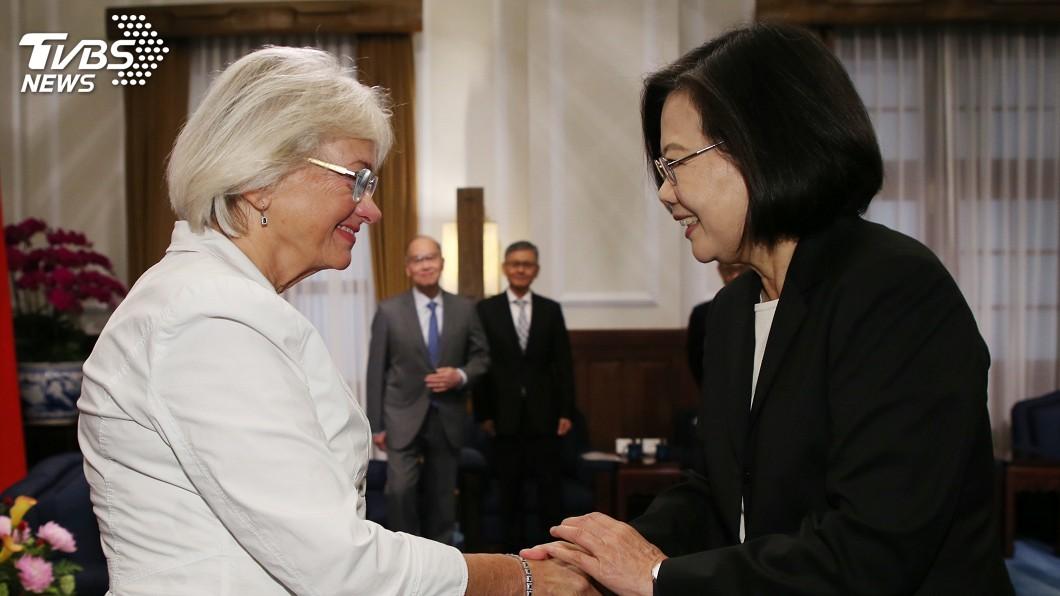 圖/中央社 接見丹麥副議長 蔡總統:期待合作擴展亞洲市場