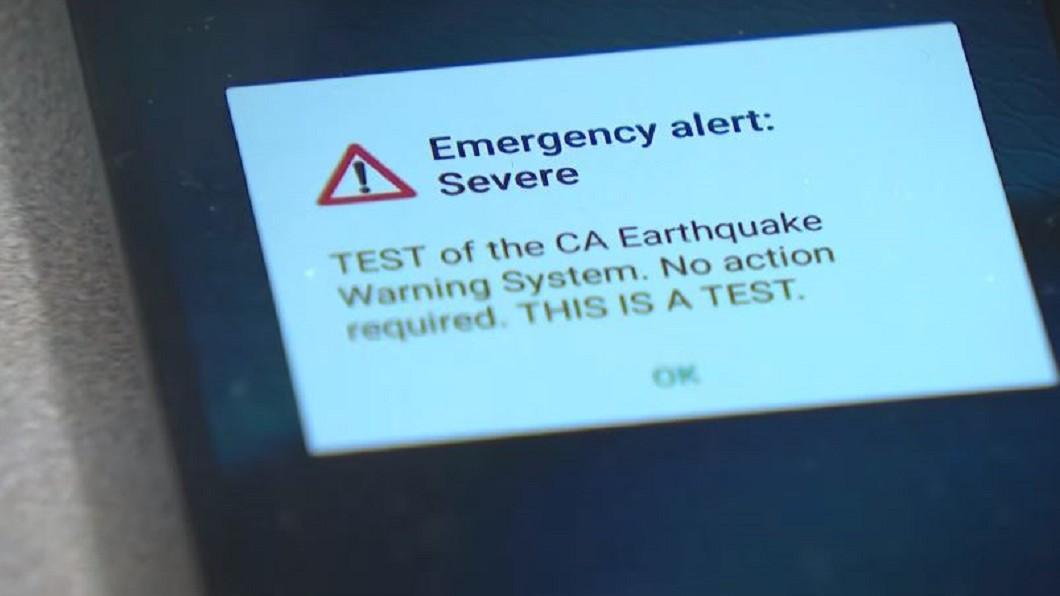 圖/翻攝自ABC10 加州大地震30年 全州地震預警系統啟用