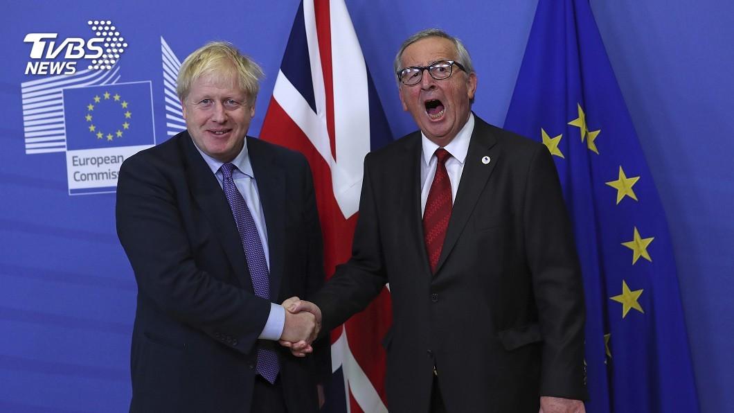 圖/達志影像美聯社 拚萬聖夜脫歐 強生版脫歐案歐盟點頭