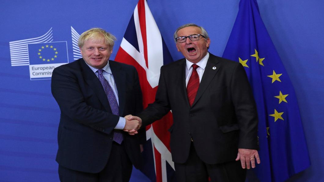 圖/達志影像美聯社 馬拉松談判 英國與歐盟達成新「脫歐協議」