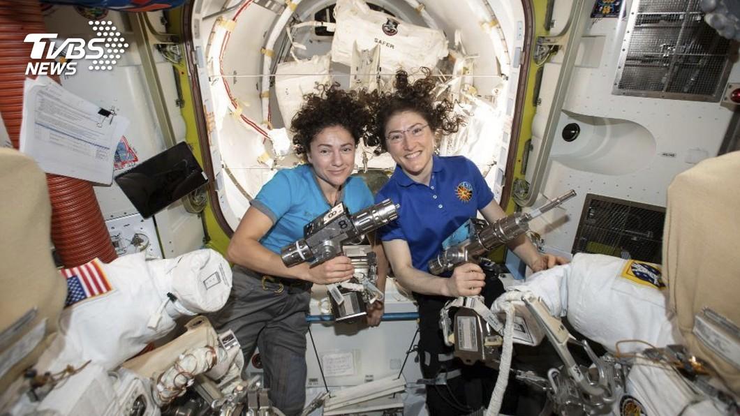 圖/達志影像美聯社 NASA寫里程碑 全女性太空漫步終實現