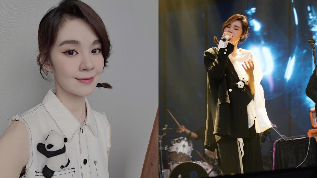 郁可唯憑演唱《犀利人妻》插曲「指望」在台灣打開知名度。圖/翻攝自微博 演唱會遭「歌迷失控舉動」襲擊 女歌手心寒:唱得不好嗎