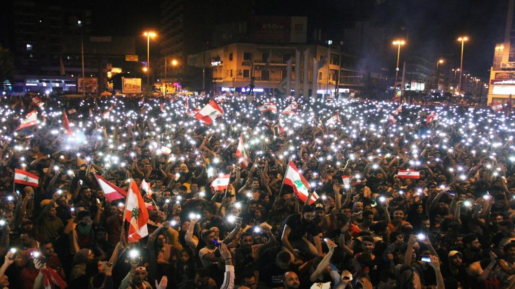 圖/達志影像路透 黎巴嫩反政府抗議  當局退讓仍難息怒火