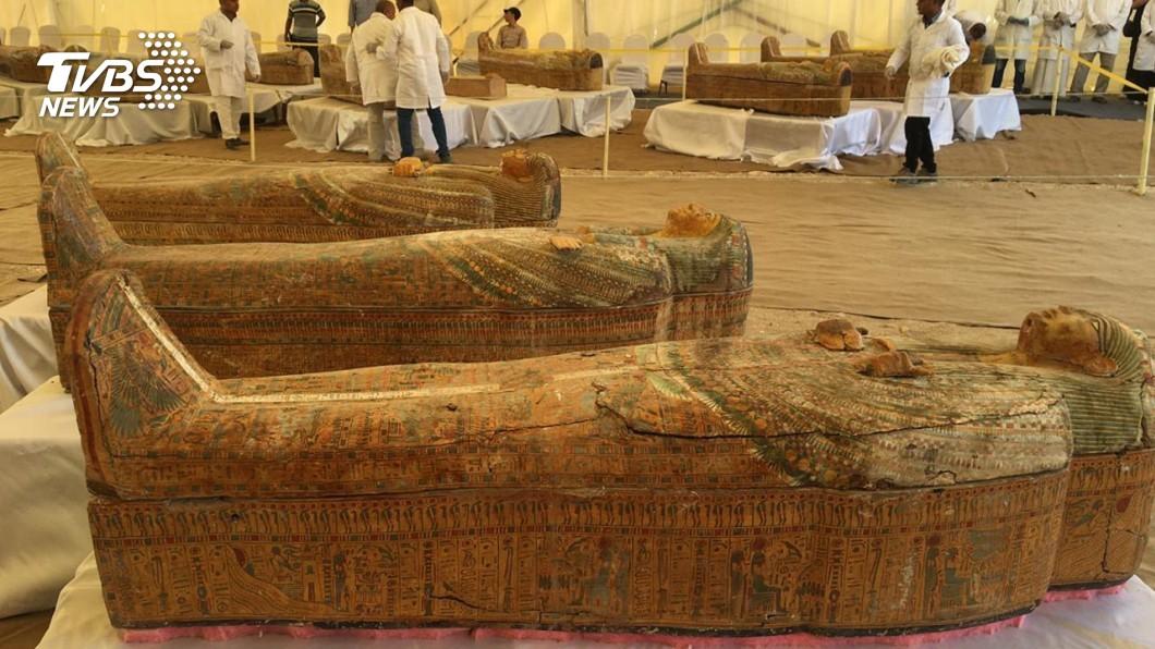 圖/達志影像美聯社 埃及又挖出30具木乃伊 塵封3千年幾近完好