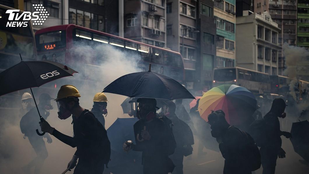圖/達志影像美聯社 元朗事件滿3個月 香港反送中全區集會抗議