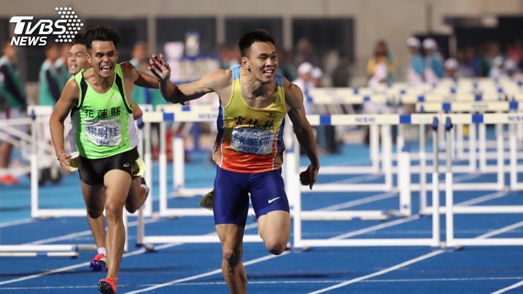 圖/中央社 差0.04秒達奧運標 陳奎儒全運會奪金留遺憾