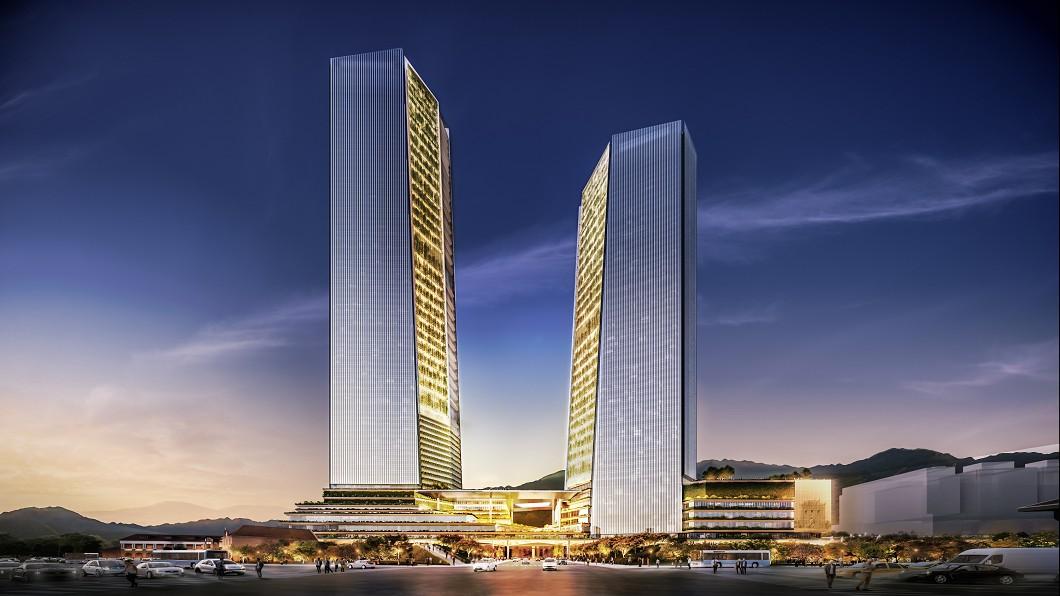 圖為雙子星案設計示意圖。圖/藍天宏匯集團提供 經濟部:台北雙星專案公司 藍天宏匯已完成登記