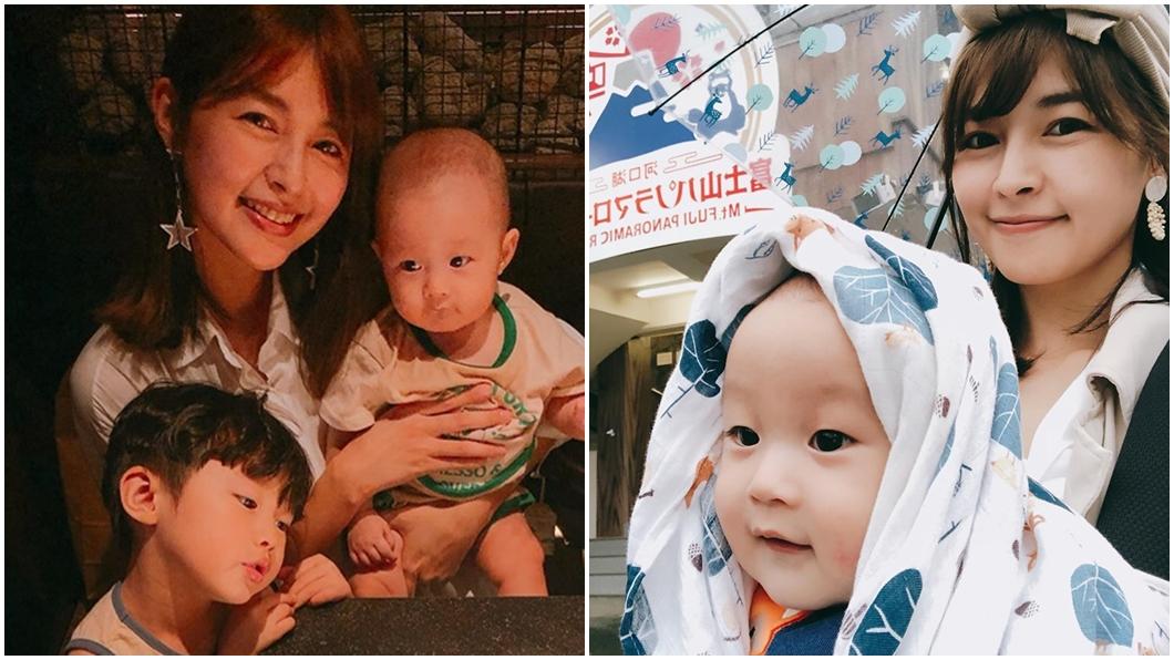 女星「黎兒」林舒語育有2子。圖/翻攝自林舒語臉書 8月嬰留房「碰一聲」!4歲兒爆哭 女星崩潰心碎